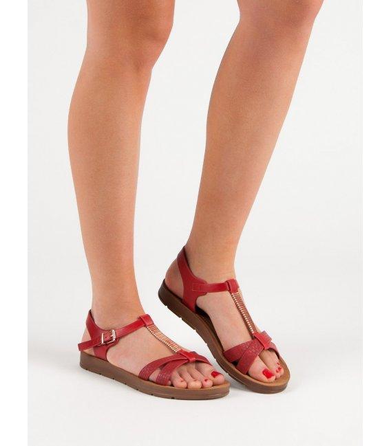 Klasické červené sandále