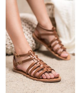Hnedé sandále rimanky