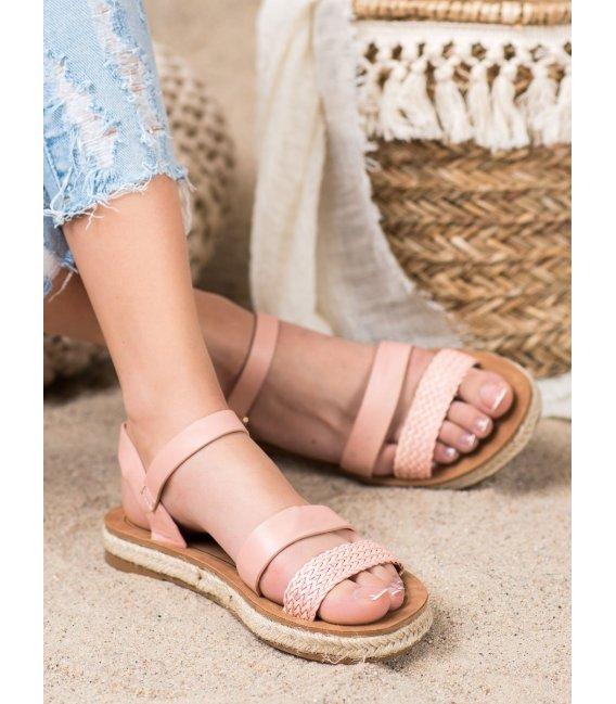 Pletené sandálky z eko kože