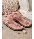 Viazané sandálkové žabky