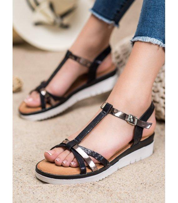 Sandálky s efektom holo