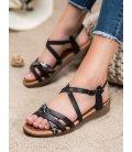 Štýlové čierne sandále