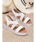 Biele sandále