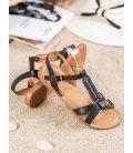 Elegantné čierne sandále