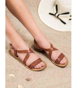 Béžové sandále z eko kože