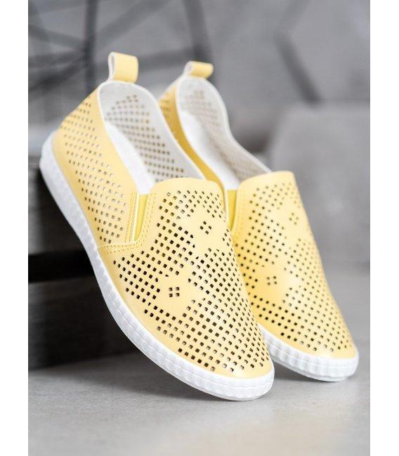 Dierkované žlté slipony
