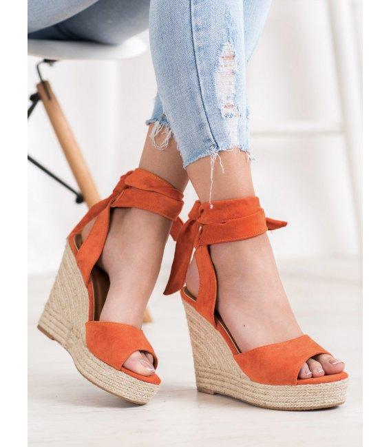 Sandále espadrilky na vysokom kline
