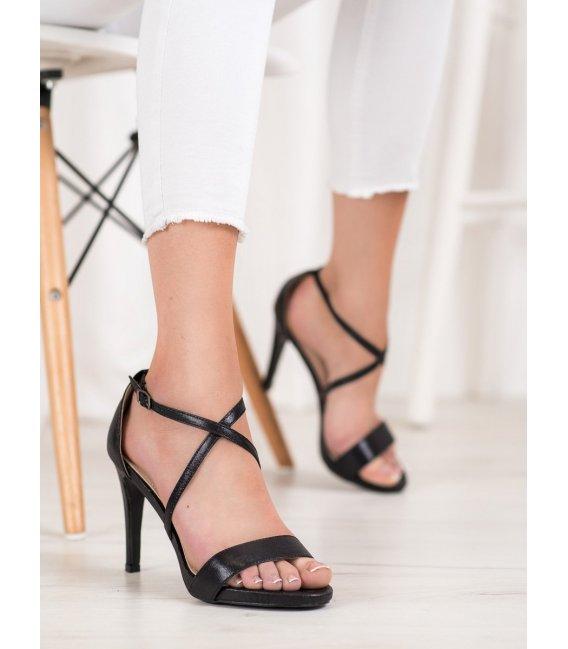 Sexy čierne sandále