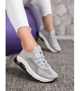 Šedé športové sneakersy