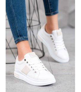 Športové topánky s béžovými pruhmi