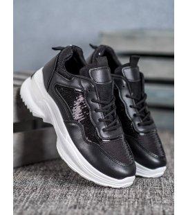 Módne sneakersy s flitrom