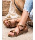 Sandálky s leopadím vzorom