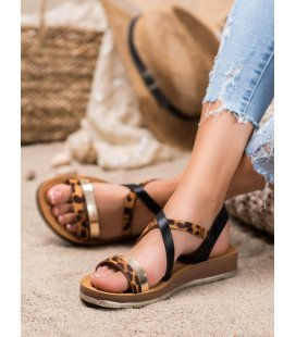 Sandálky s leopardím vzorom