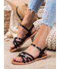 Klasické čierne sandálky