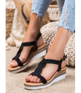 Textilné sandálky na kline