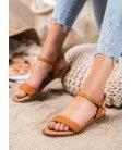 Neformálne hnedé sandálky