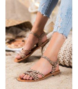 Sandálky na plochom podpätku