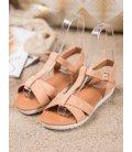 Béžové textilné sandálky