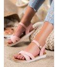 Pohodlné textilné sandálky