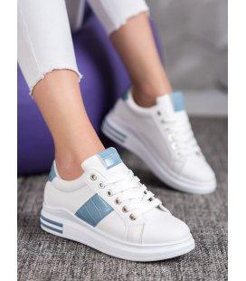 Športové topánky s modrými detailami