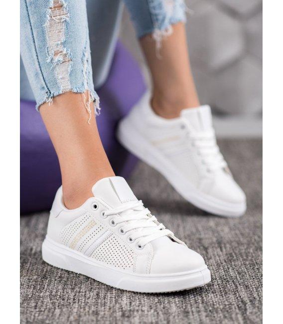 Dierkované biele sneakersy