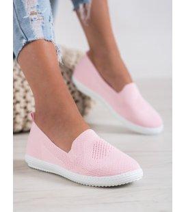 Ružové dierkované tenisky