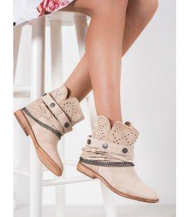 Členkové topánky s ozdobným pásikom