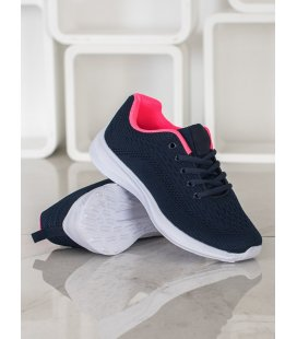 Pohodlné tmavo modré športové topánky