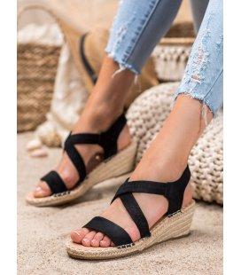 Semišové sandálky espadrilkách