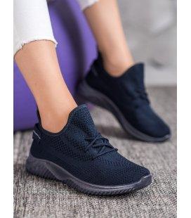 Tmavomodré dierkované sneakersy