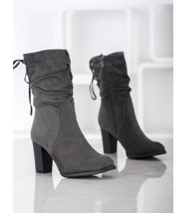 Vysoké šedé členkové topánky