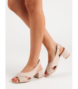 Semišové béžové sandále