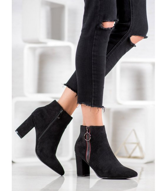 Semišové členkové topánky