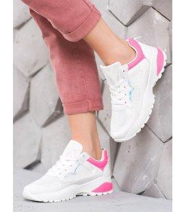 Sneakersy s ružovými detailami