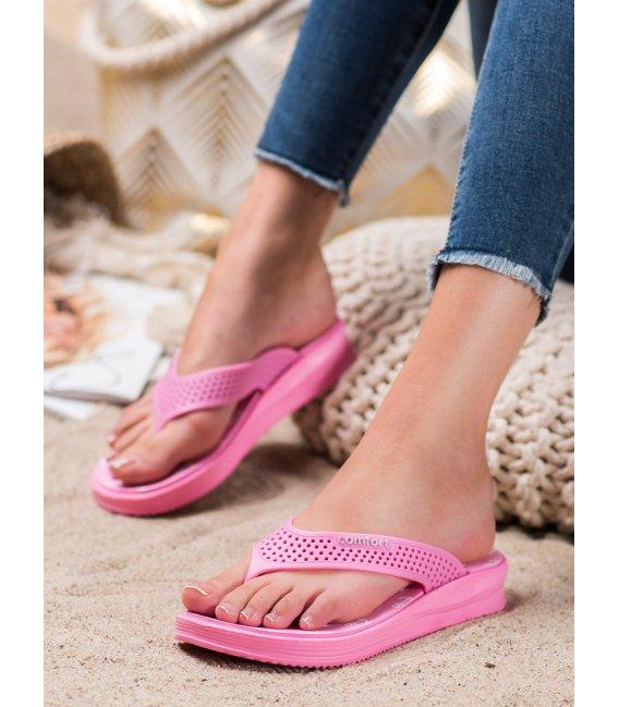 Ružové žabky Comfort