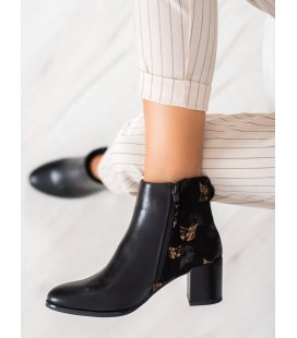 Zateplené členkové topánky so vzorom