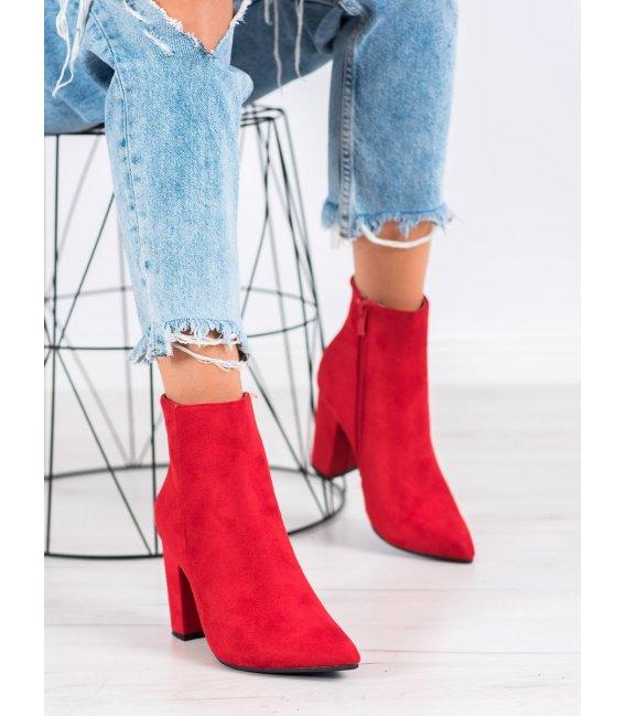 Semišové členkové topánky do špičky