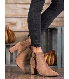 Semišové nazúvacie topánky