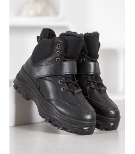 Čierne fashion čižmy