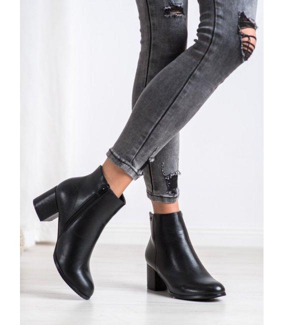 Zateplené členkové topánky z kože