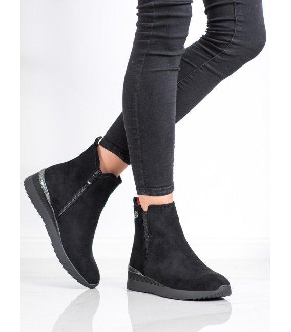 Zateplené členkové topánky na kline