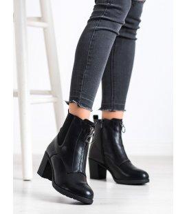 Zateplené členkové topánky so zipsom