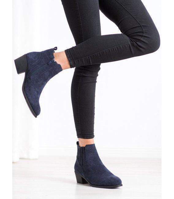 Zateplené členkové topánky ze semišu
