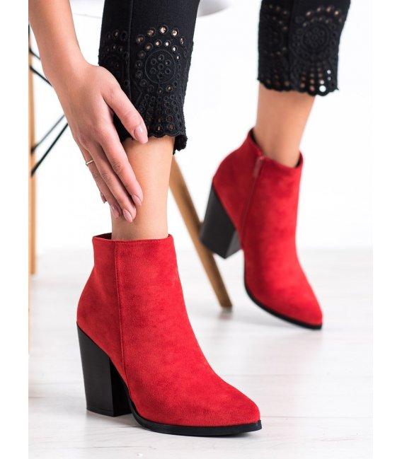 Členkové topánky na širokom stĺpci