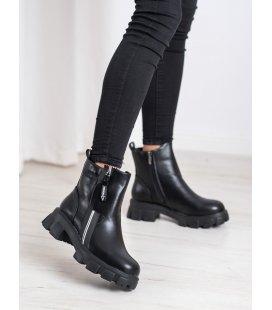 Módne topánky s ozdobným zipsom