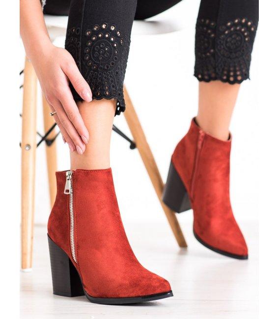 Teplé topánky z ozdobným zipsom