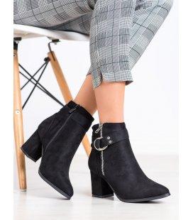 Elegantné členkové topánky s ozdobami
