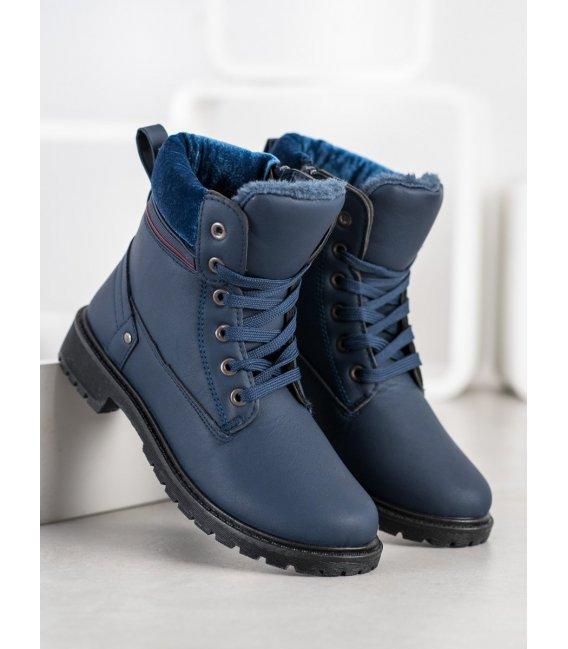 Štýlové tmavo modré workery