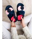 Tmavomodré papuče s uškami