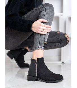 Módne členkové topánky na zips